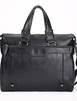 Men Bags All Seasons PU Briefcase Pockets Zipper for Formal Office & Career Black Coffee Khaki