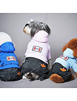 Dog Clothes/Jumpsuit Dog Clothes Casual/Daily Solid Blue Pink Light Blue