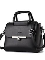 Women Bags All Seasons PU Shoulder Bag Zipper for Casual Blue Black Fuchsia