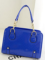 Women Bags All Seasons PU Tote Zipper for Casual Blushing Pink Red Black Blue