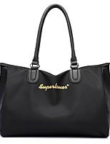 Women Bags All Seasons Nylon Shoulder Bag Zipper for Casual Black Gray Purple