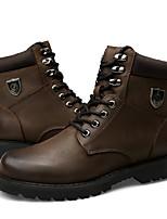 abordables -zapatos de mujer cuero de vaca real piel de napa botas de moda de otoño invierno botines botas de combate botas botines de punta redonda /