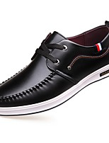 Men's Shoes Synthetic Microfiber PU Fall Winter Formal Shoes Comfort Sneakers Lace-up For Office & Career Party & Evening Yellow Black