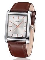 Men's Women's Fashion Watch Wrist watch Quartz Leather Band Brown