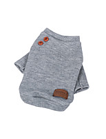 Cat Dog Sweatshirt Dog Clothes Casual/Daily Solid Beige Gray Costume For Pets