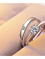 Муж. Жен. Классические кольца Серебрянное покрытие Круглый Бижутерия Назначение Свидание