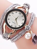 Women's Fashion Watch Simulated Diamond Watch Bracelet Watch Chinese Quartz Imitation Diamond PU Band Charm Elegant Casual Black Blue Red