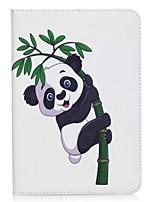 Panda e carteira de bambu carteira titular com suporte flip caso de couro magnético PU para samsung galaxy tab s2 8.0 t710 t715 8.0