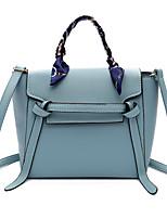Donna Sacchetti Per tutte le stagioni PU (Poliuretano) Tote Cerniera per Shopping Casual Blu Nero Rosa Cachi