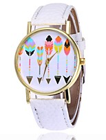 cheap -Women's Unique Creative Watch Chinese Quartz Large Dial PU Band Casual Fashion Black White Brown Green Grey Ivory
