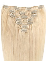 14-24 Inch Clip In Human Hair Extensions 100% Real Human Hair Silky Straight Style Many Colors Supply 70-120G