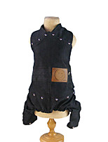 Dog Jumpsuit Harness Dog Clothes Casual/Daily Solid Black Costume For Pets