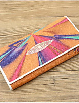Women Bags Cowhide Wallet Zipper for Event/Party Formal All Seasons Blue Orange Blushing Pink