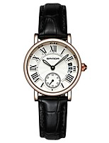 Damen Modeuhr Armbanduhr Armbanduhren für den Alltag Quartz Leder Band