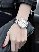 Mulheres Relógio de Moda Quartzo Aço Inoxidável Banda Prata