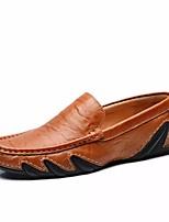 Homme Chaussures Cuir Printemps Automne Moccasin Mocassins et Chaussons+D6148 Pour Décontracté Noir Bleu Brun claire Brun Foncé