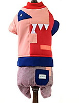 Dog Hoodie Clothes/Jumpsuit Dog Clothes Casual/Daily Color Block Green Red Gray