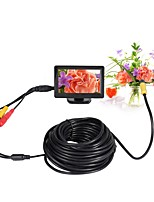 10mm Lens AV Endoscope Camera 5V Mini Camera Waterproof IP66 10m Inspection Borescope Snake Pipe Cam Night Vision