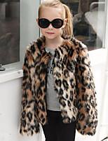 Pelliccia sintetica Matrimonio Party/serata Coprispalle per bambini With Leopardo Cappotti/giacche