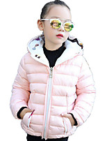 Girls' Solid Print Down & Cotton Padded,Polyester Fall Winter Long Sleeve