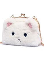 Women Bags All Seasons Velvet Shoulder Bag Zipper for Casual White Black Blushing Pink Gray