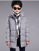 Boys' Solid Down & Cotton Padded,Cotton Winter Long Sleeve