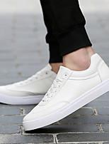 Для мужчин обувь Полиуретан Весна Осень Удобная обувь Кеды Назначение Повседневные Белый