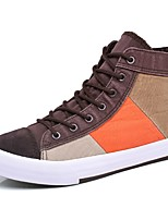Men's Shoes Fabric Spring Fall Comfort Sneakers For Casual Coffee Dark Blue