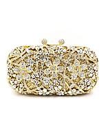 Damen Taschen Ganzjährig Metall Abendtasche Kristall Verzierung Blume(n) für Hochzeit Veranstaltung / Fest Gold