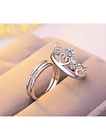 Men's Women's Band Rings Classic Elegant Silver Plated Circle Jewelry For Valentine Date