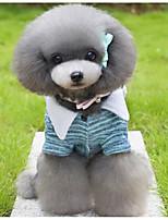 Hund Overall Hundekleidung Lässig/Alltäglich Kartoon Grün Hellblau