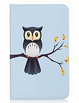 Owl Pattern Card Holder Wallet with Stand Flip Magnetic PU Leather Case for Samsung Galaxy Tab E 8.0 T377 T377V 8.0 inch Tablet PC