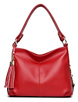 Women Bags Cowhide Shoulder Bag Zipper for Wedding Event/Party Casual Formal Office & Career All Seasons Black Red Light Purple Dark Grey