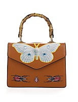 Women Bags PU Shoulder Bag Zipper for All Seasons White Black Red Brown