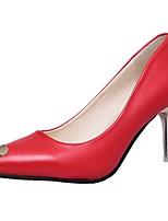 Mujer Zapatos Goma Primavera Confort Tacones Tacón Bajo Dedo Puntiagudo Para Blanco Negro Rojo Rosa