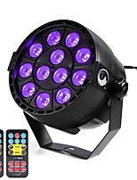 U'King ZQ-B187B#YK2 12W 12 LEDs Purple Color DMX Sound Activated Par Stage Lighting with 2 Remote Control for Disco Party Club KTV Wedding