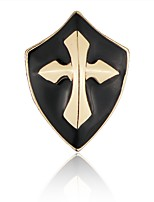Men's Women's Brooches Collar Needle Alloy Cross Jewelry For Casual Holiday