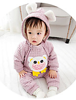 Baby Solid Color Animal One-Pieces,100%Cotton Fall Winter