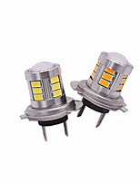 2PCS Top Lens Design Super Focus Lightness 9W H7 LED Fog Light Bulb White Yellow Red Colors Optional