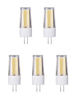 5pcs 3W G4 LED Bi-pin Lights 1 leds COB Warm White Cold White 230lm 65600/3500K AC 220-240V