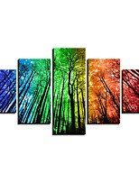 Canvas Print Abstract,Five-piece Suit Canvas Vertical Panoramic Print Wall Decor For Home Decoration