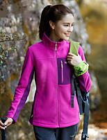 Women's Hiking Fleece Jacket Keep Warm Outdoor Winter Fleece Jacket Full Length Visible Zipper for Running/Jogging Camping / Hiking