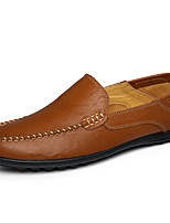 Men's Shoes Nappa Leather Fall Winter Moccasin Loafers & Slip-Ons For Casual Party & Evening Brown Black