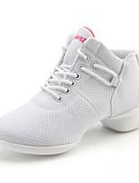 cheap -Women's Dance Sneakers Breathable Mesh Sneaker Indoor Outdoor Platform White Black Red Customizable