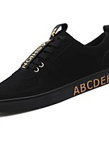 Men's Shoes PU Spring Fall Comfort Sneakers Lace-up For Casual Black/Gold Red Black/White
