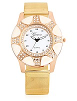 Women's Fashion Watch Wrist watch Simulated Diamond Watch Chinese Quartz Large Dial Metal Band Charm Cool Casual Gold