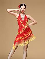 Latin Dance Dresses Women's Performance Chinlon Tassel(s) Dresses