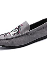 Men's Shoes PU Fall Winter Comfort Loafers & Slip-Ons Animal Print For Casual Gray Black