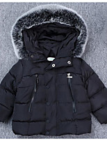 Girls' Solid Down & Cotton Padded Fall Winter