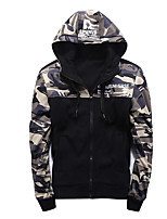 Men's Going out Hoodie Color Block Camouflage Letter Hooded Micro-elastic Others Long Sleeve Spring Fall